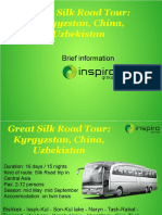 Great Silk Road Tour Kyrgyzstan China Uzbekistan
