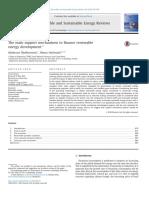 The main support mechanisms to finance renewable energy development
