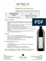 Tech Sheets - Cabernet Sauvignon 2013 RO
