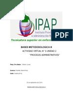 Bases Metodologicas III .Unidad II .Actividad Virtual III. Panetta Maria Rosa