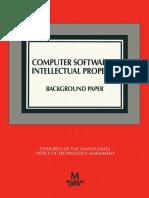 US - CongrComputer Software & Intellectual Property Background Paperess - Computer Software & Intellectual Property Background Paper, 1990