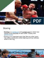 Ban on Boxing