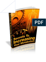 Secrets To Increasing Your Metabolism