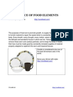 Importance of Food Elements