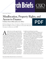 Misallocation, Property Rights, and Access to Finance