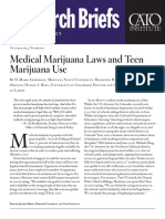Medical Marijuana Laws and Teen Marijuana Use