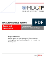 BiH - Environment - Final Narrative Report