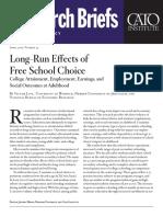 Long-Run Effects of Free School Choice