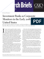 Investment Banks as Corporate Monitors in the Early 20th Century United States