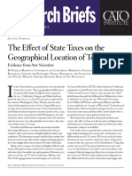 The Effect of State Taxes on the Geographical Location of Top Earners