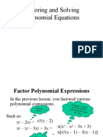 6.4-Factoring and Solving Polynomial Equations