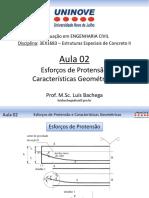 Esforços de Protensão Características Geométricas do Concreto Protendido