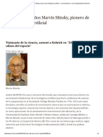 Muere a Los 88 Años Marvin Minsky