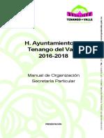 MANUAL DE ORGANIZACIÓN DE LA  SECRETARIA PARTICULAR [105001].doc
