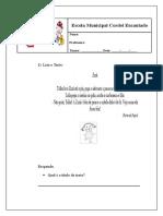 Atividades Da Escola Da Ana Paula
