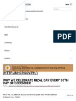 Why We Celebrate Rizal Day Every 30th Day of December - National Historical Commission of the Philippines