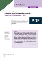 Efecto Antiinflamatorio de Alimentos Naturales