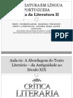 Aula 02 - Teoria Da Literatura II