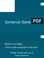 02 sentence starters