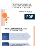 Compressive Sensing Based Image Reconstruction Using Orthogonal Matching