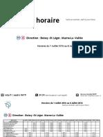 Timetable RER Marne La Valle July 2016