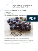 Grape Seed Extract Superior to Blockbuster Diabetes Drug