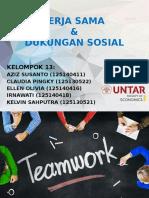 Kerja Sama Dan Dukungan Sosial