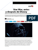 Pensar Star War, Antes y Después de Disney
