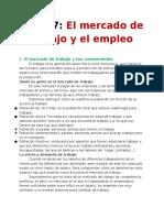 Resumen Tema 7 Economía