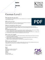 German Level 1