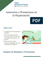 Beneficios o Prestaciones en La Organización