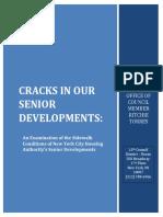 Cracks in NYCHA Senior Developments