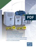 Inversor de frequencia - manual de configuração cfw-08