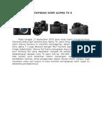 Spesifikasi Sony Alpha 7s II