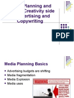Media Planning and Buying, Creativity side of Advertising and Copywriting