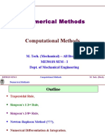 M.tech Computationl Methods Numeical Methods