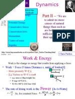 Dynamics Energy Momentum