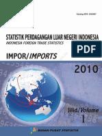 Statistik Impor asam sulfat 2010 Jilid 1