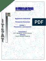 Unidad 1 Planeacion Financiera Ingeniería Industrial