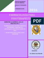 FARMACOLOGÍA SISTEMA NERVIOSO AUTÓNOMO.colinérgicos y Adrenérgicos Sobre Ileon Aislado de Rata.