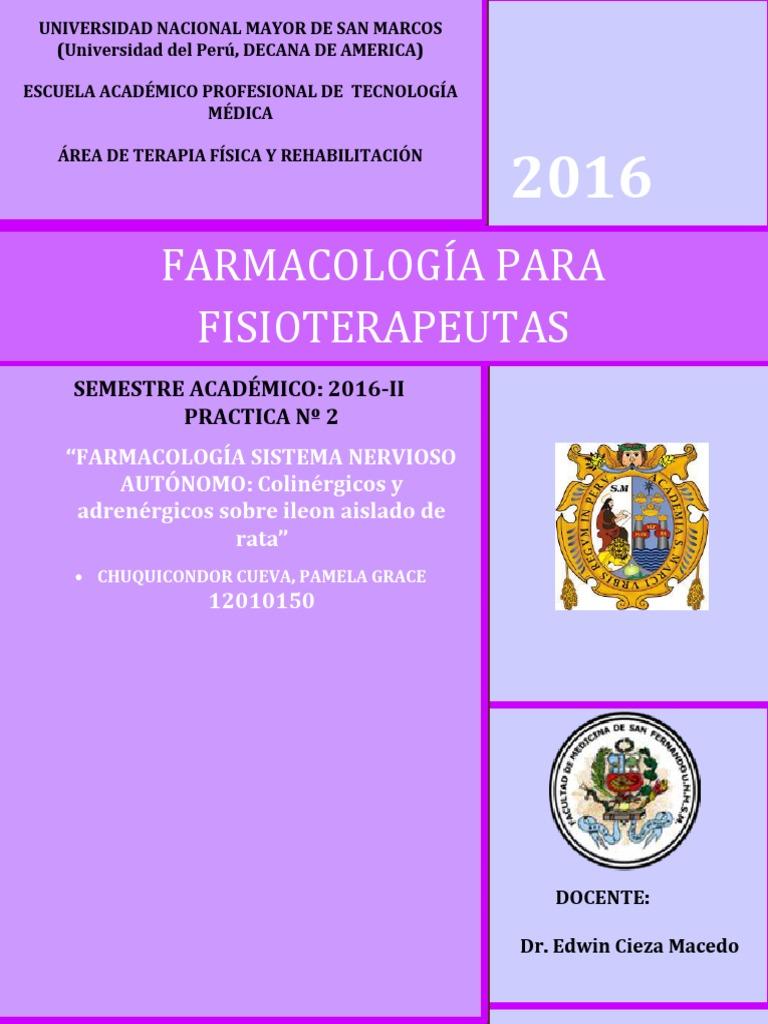 FARMACOLOGÍA SISTEMA NERVIOSO AUTÓNOMO.colinérgicos y Adrenérgicos ...