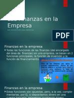 Finanzas en La Empresa