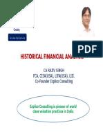 Historical Financial Analysis- CA Rajiv Singh