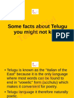 Some Facts about Telugu you might not know