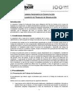Nuevo Reglamento Trabajos de Graduacion 2015