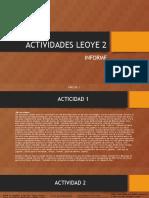 ACTIVIDADES LEOYE 2