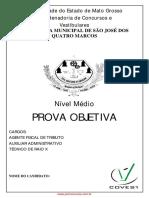 Concurso Quatro Marcos Caderno Nivel Medio