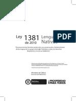 Ley de Lenguas 2013
