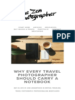 Why Every Travelle Should Carry a Notebook