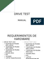 Manual Drive Test